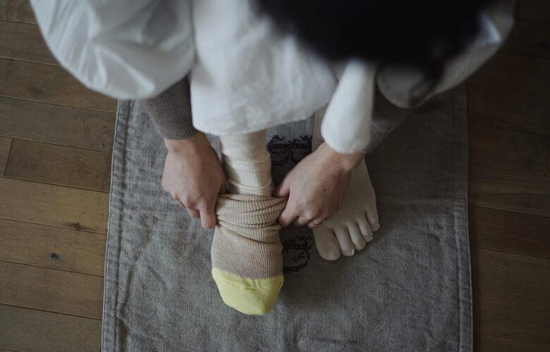 シルクコットン5本指&重編ソックス